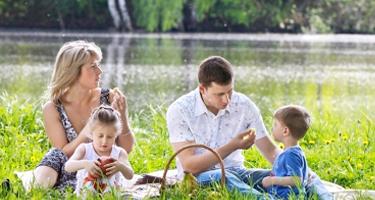 Picknick en varen met de kids